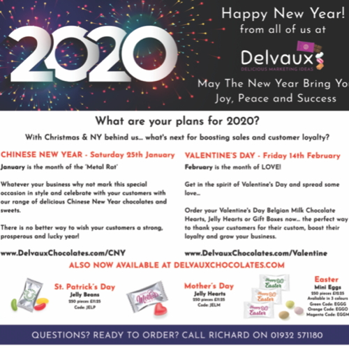January 2020 Newsletter From Delvaux