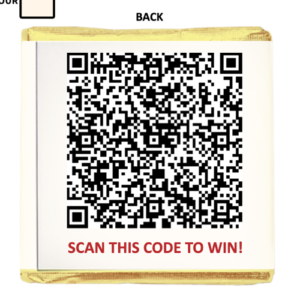 QR Codes On Chocolates & Sweets = The Perfect Combination!