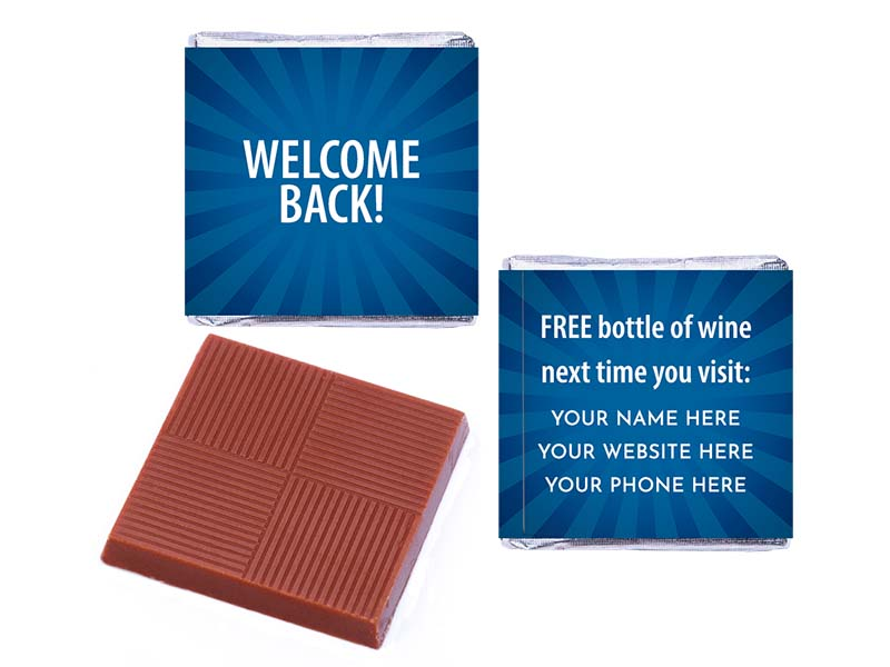 Welcome Back Blue Personalised