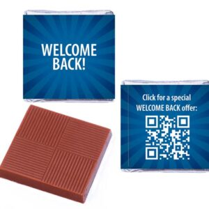 Welcome Back Blue QR Personalised