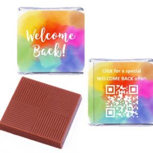 Welcome Back Rainbow QR Personalised