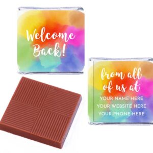 Welcome Back Rainbow Personalised
