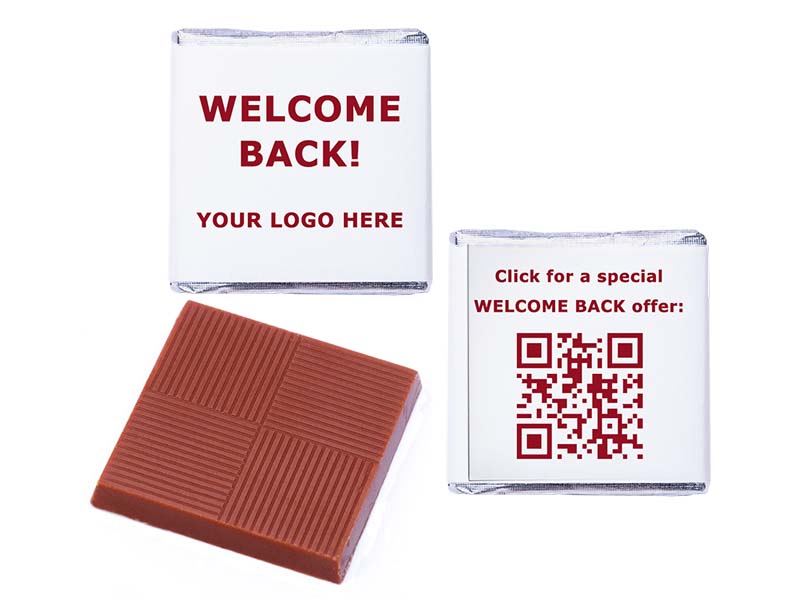 Welcome Back Logo QR Personalised